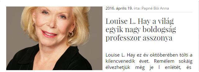 Louise L. Hay blog.hu